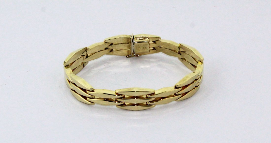 14k Yellow Gold Italy Link Bracelet 15 Grams Signed B