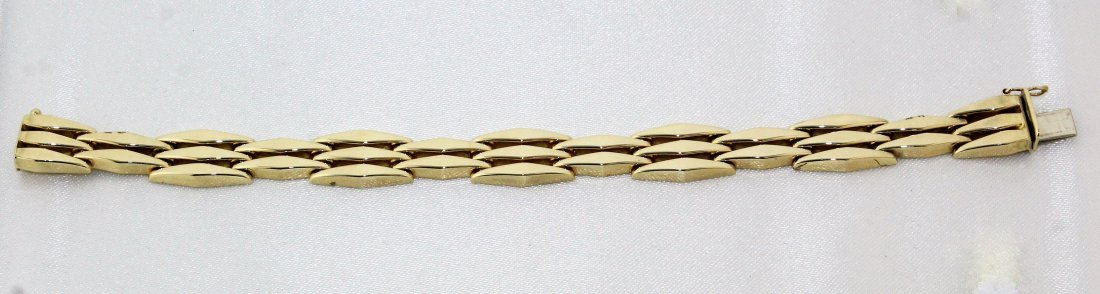 14k Yellow Gold Italy Link Bracelet 15 Grams Signed B - 2