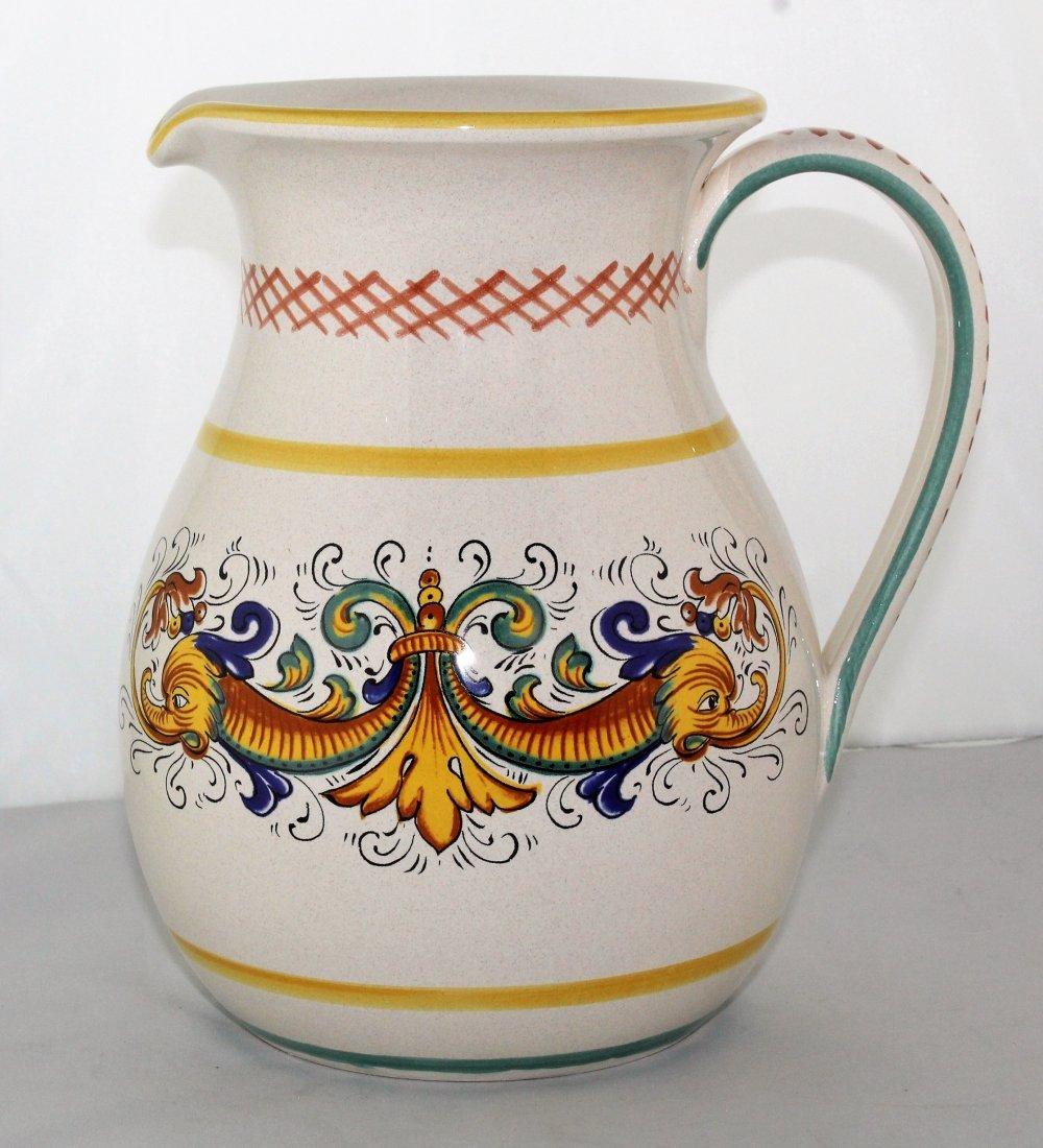 "Italian Pottery 8 1/2"" Pitcher by Ceramica Nova Deruta"