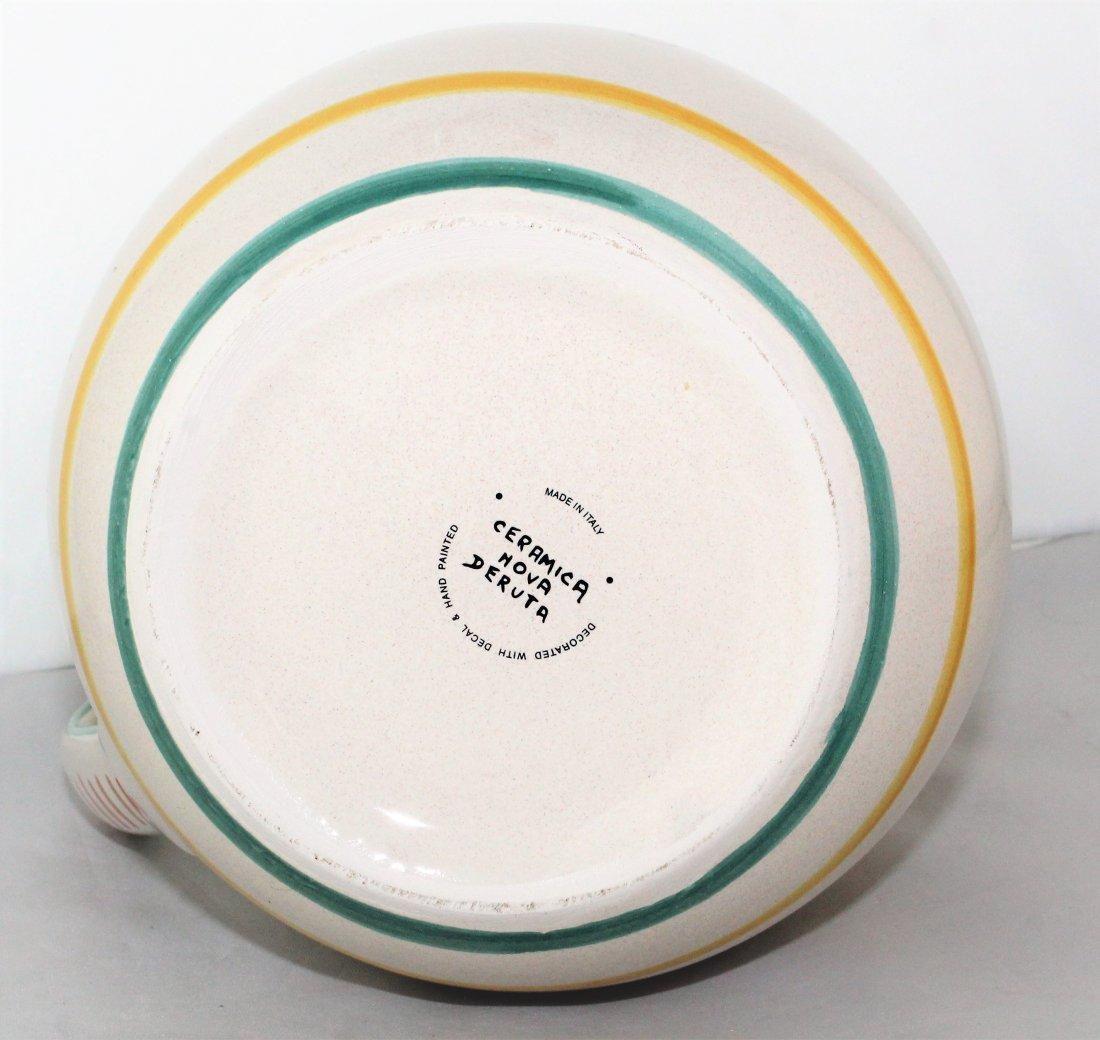 "Italian Pottery 8 1/2"" Pitcher by Ceramica Nova Deruta - 4"