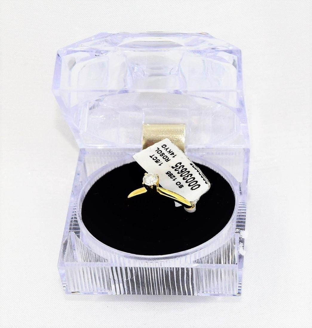 Leo Schater 14k Gold Diamond Engagement Ring Size 6.5
