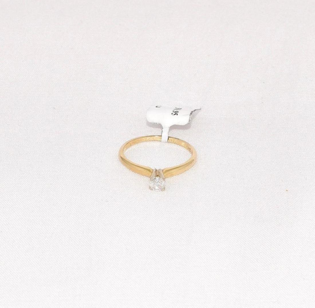 Leo Schater 14k Gold Diamond Engagement Ring Size 6.5 - 2