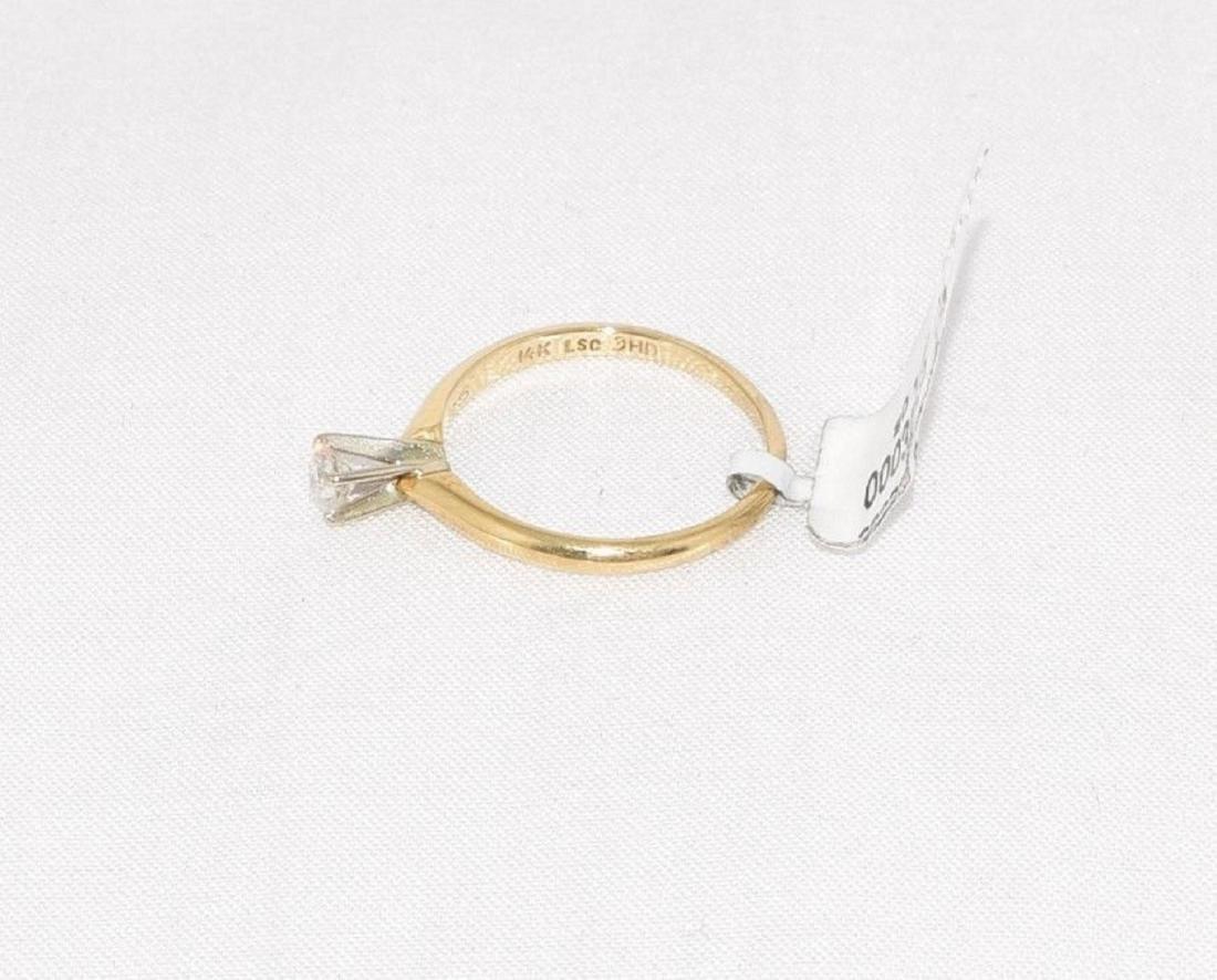 Leo Schater 14k Gold Diamond Engagement Ring Size 6.5 - 3