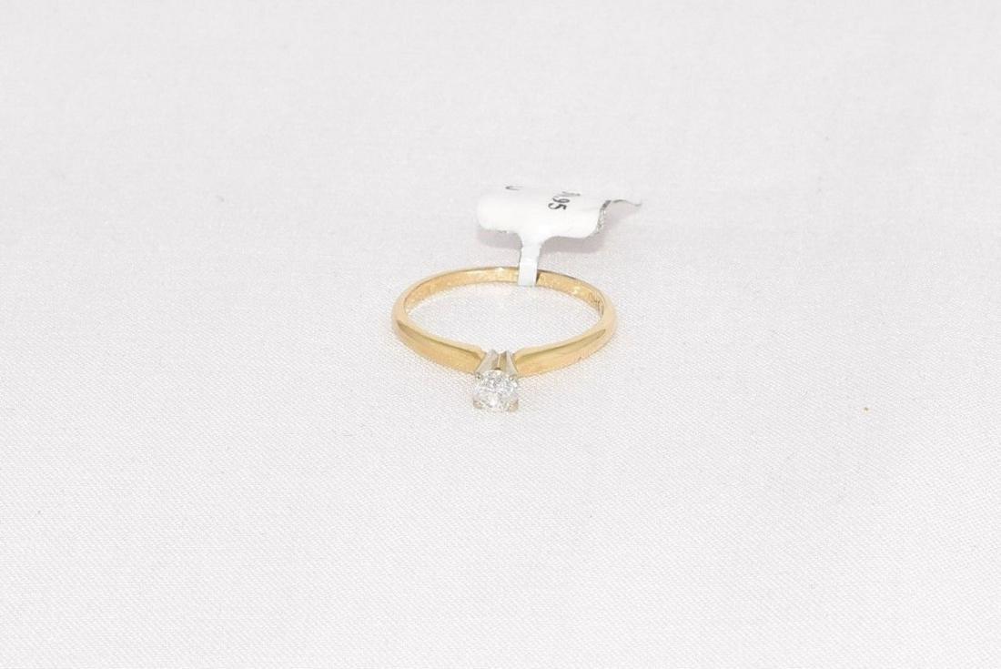 Leo Schater 14k Gold Diamond Engagement Ring Size 6.5 - 5