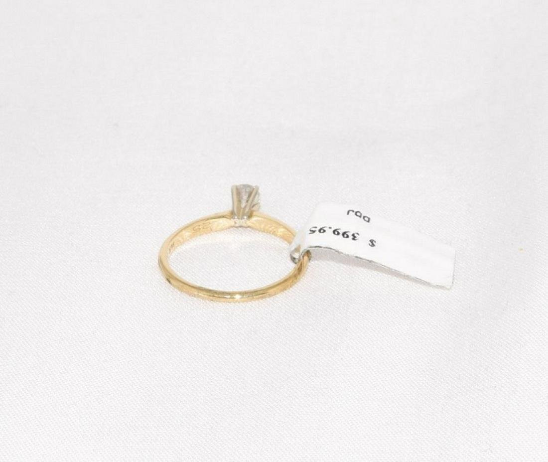 Leo Schater 14k Gold Diamond Engagement Ring Size 6.5 - 6