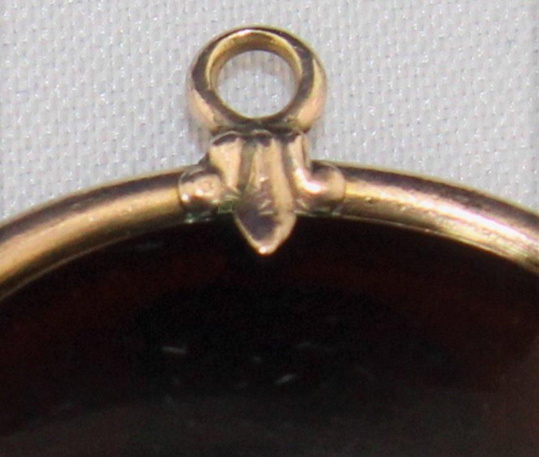 Antique Edwardian Molded Glass Art Nouveau Pendant - 3