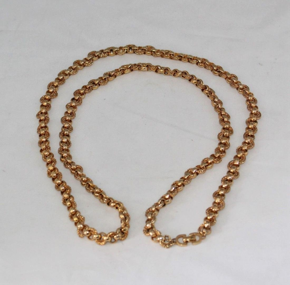 """Authentic CHRISTIAN DIOR Heavy 36"""" Gold Tone Necklace"""