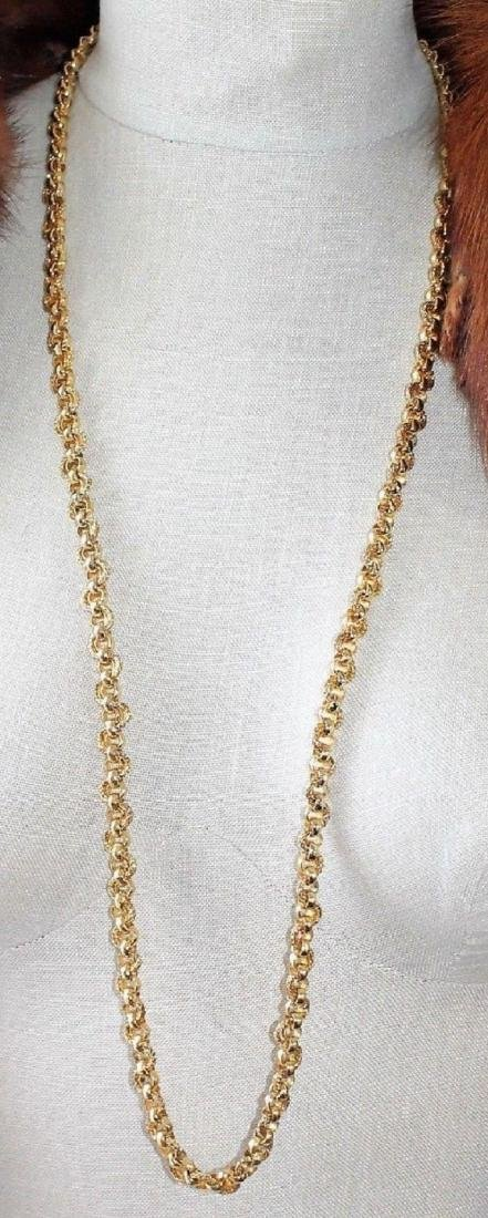 """Authentic CHRISTIAN DIOR Heavy 36"""" Gold Tone Necklace - 5"""