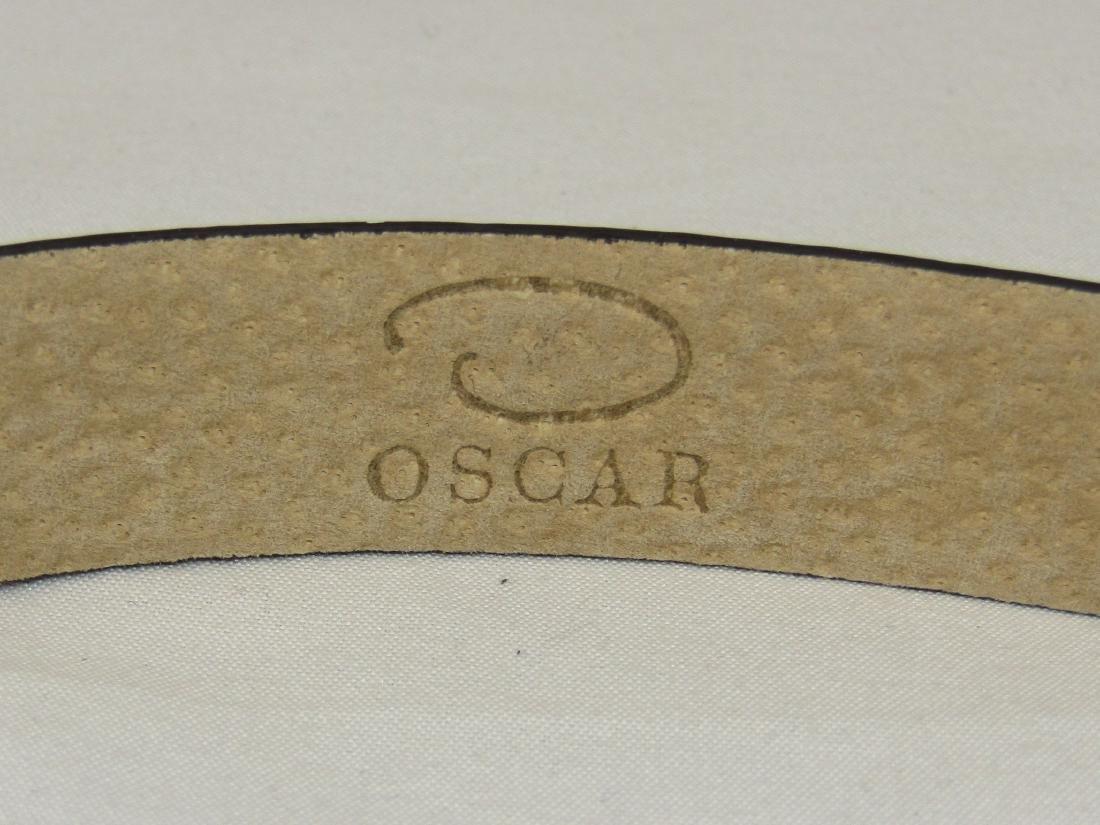 New OSCAR DE LA RENTA Brown Genuine Leather Belt Size S - 6