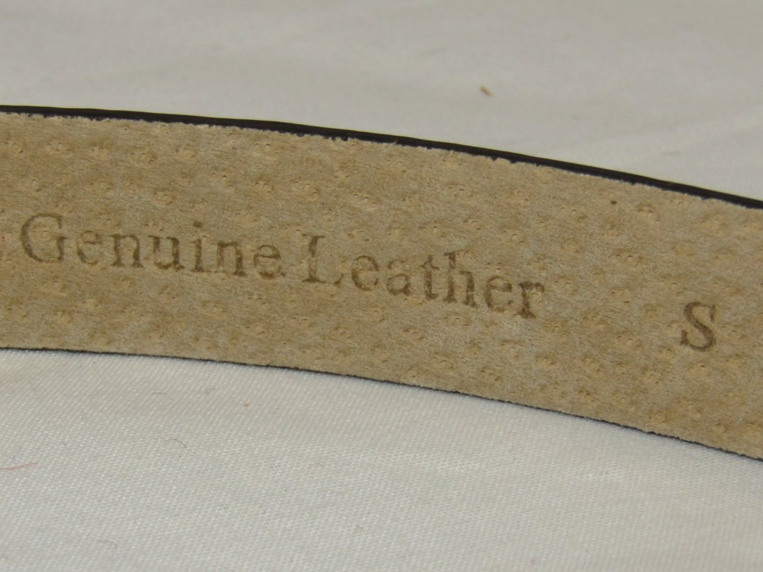 New OSCAR DE LA RENTA Brown Genuine Leather Belt Size S - 7