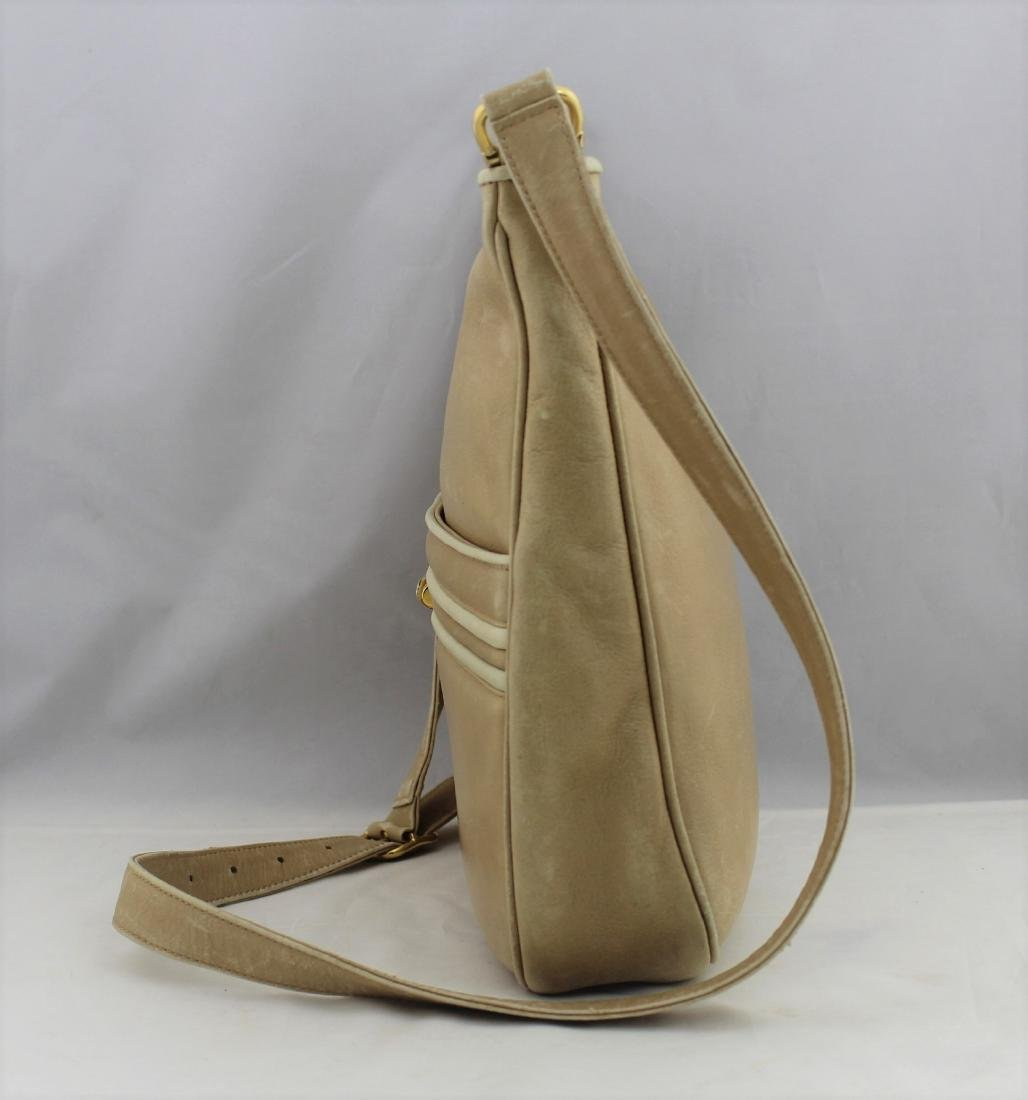 Vintage GUCCI Tan Beige Soft All Leather Shoulder Bag - 4