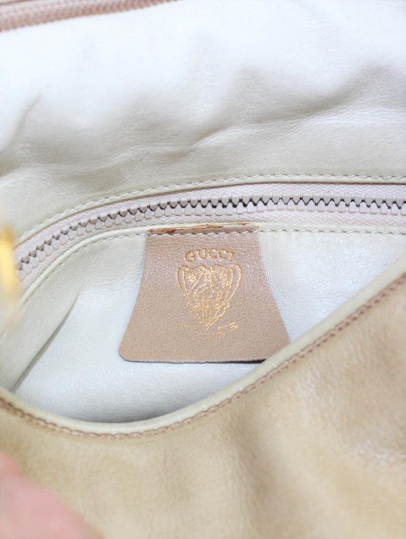 Vintage GUCCI Tan Beige Soft All Leather Shoulder Bag - 7