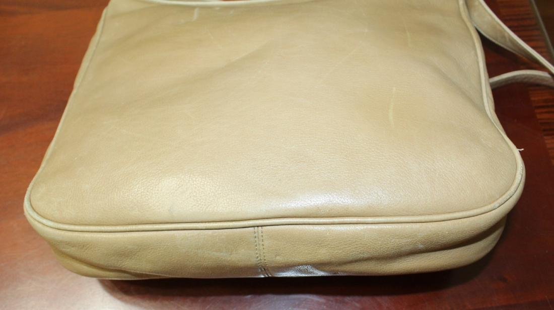 Vintage GUCCI Tan Beige Soft All Leather Shoulder Bag - 8