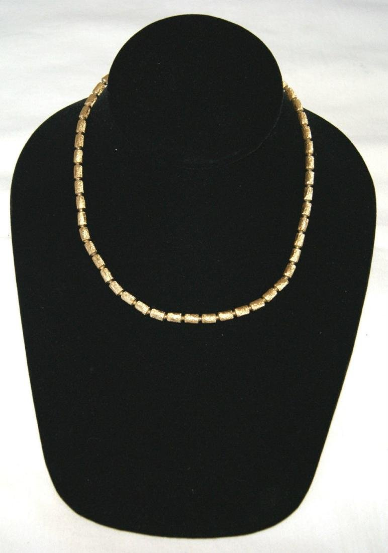 "16"" Givenchy Gold Tone Choker Necklace"