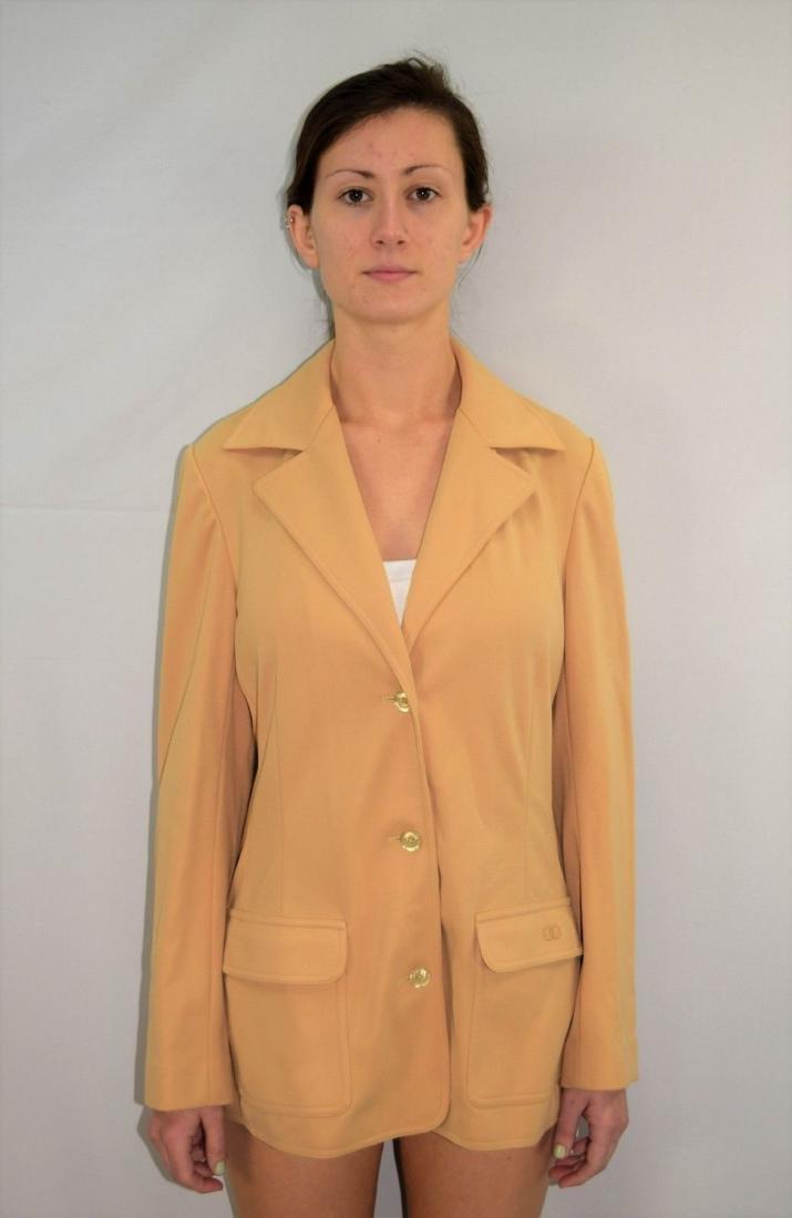 Vintage 70's GIVENCHY Polyester Blazer Jacket -Size M