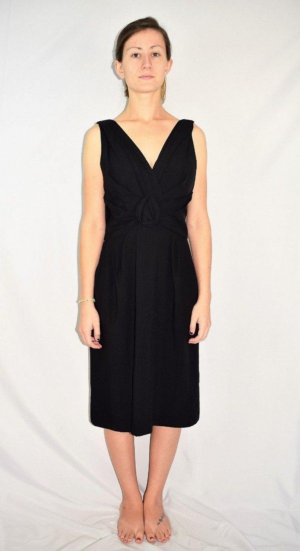 Vintage Designer Sue Leslie Black Cocktail Dress