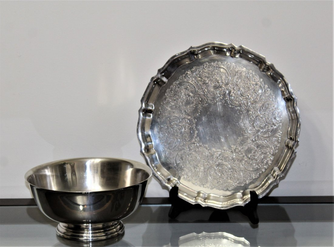 GORHAM Silver Plate Tray & Serving Bowl