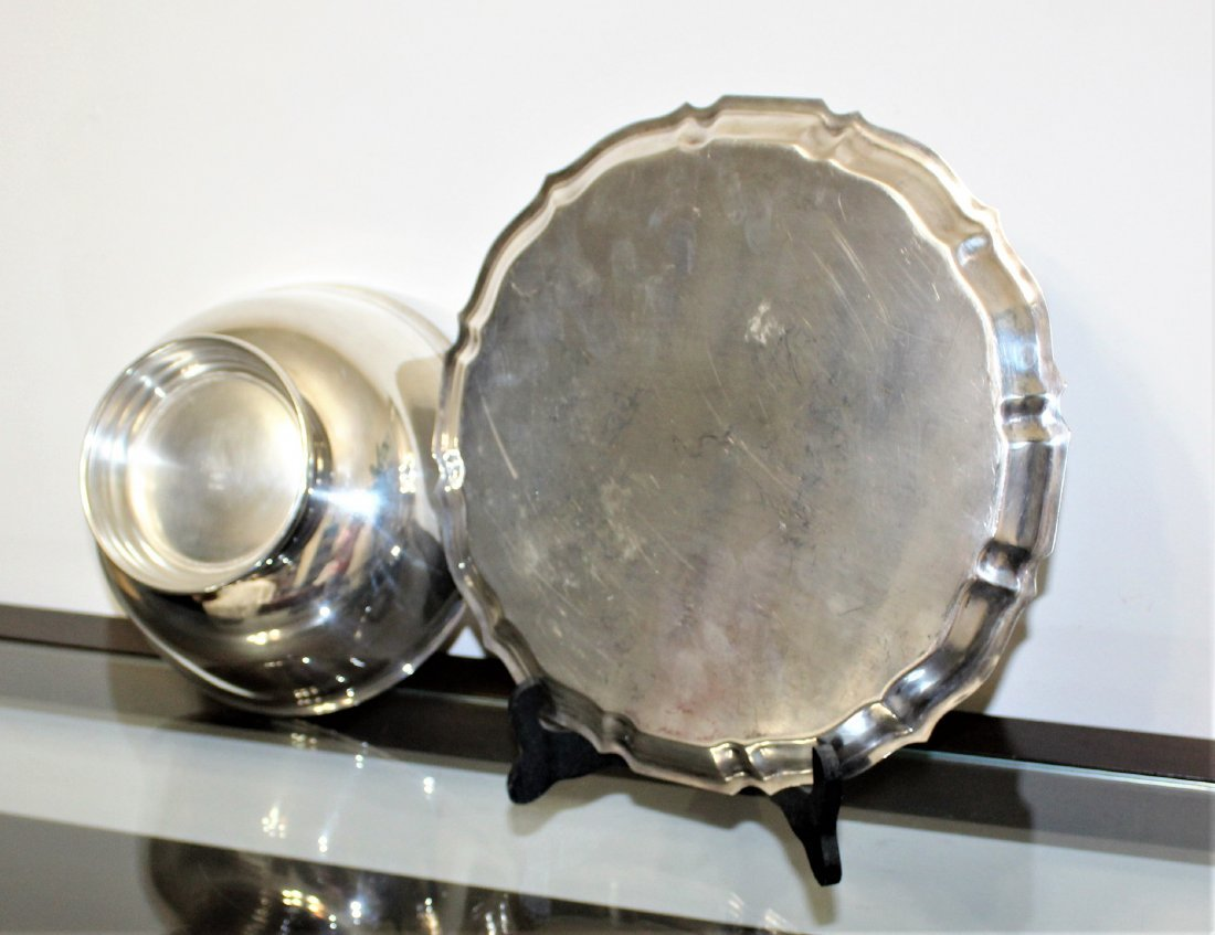GORHAM Silver Plate Tray & Serving Bowl - 4