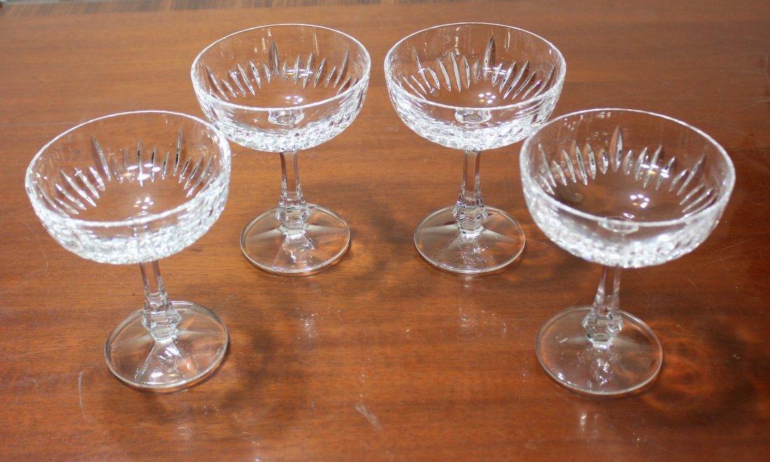 Gorham Hearthglow Crystal Champagne Sherbet Glasses