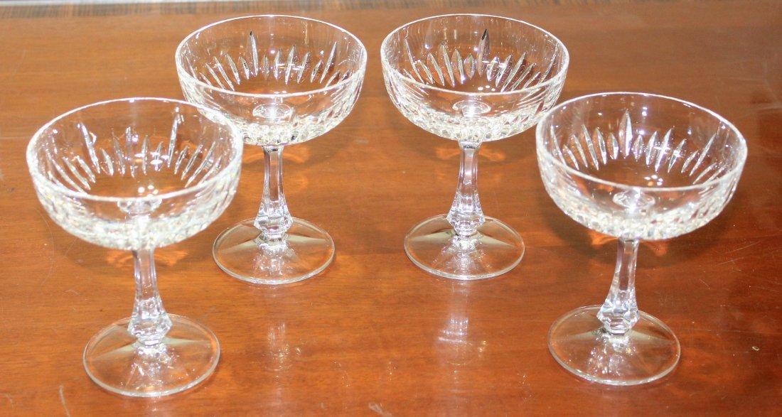 Gorham Hearthglow Crystal Champagne Sherbet Glasses - 2