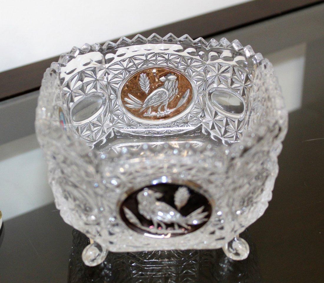 Hofbauer The Byrdes Clear Crystal Vase & Bowl Lot - 3