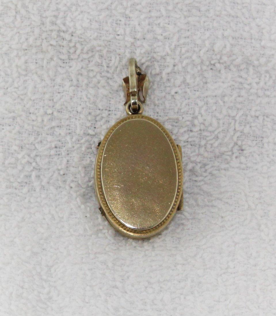 Antique Victorian Gold Gilt Fill Locket Pendant - 3