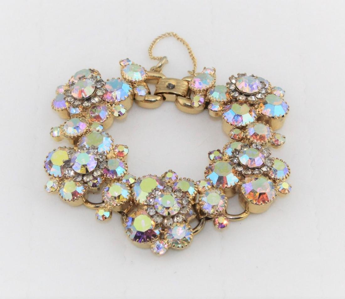 Juliana Aurora Borealis Rhinestone Gold Tone Bracelet