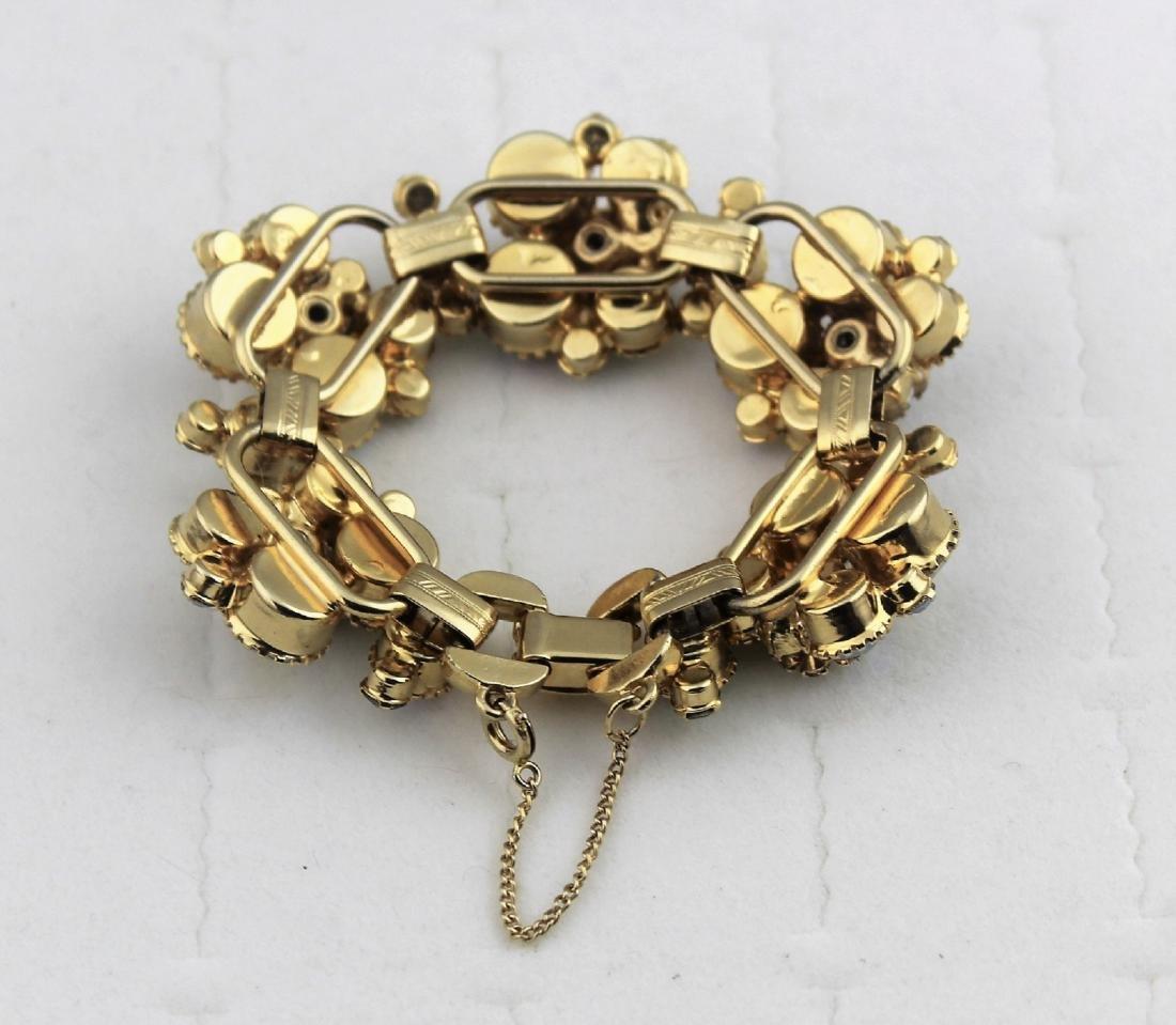 Juliana Aurora Borealis Rhinestone Gold Tone Bracelet - 2