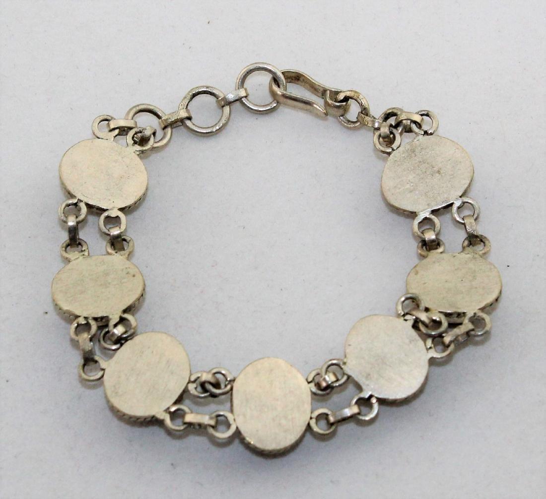 Tiger's Eye Silver Link Bracelet - 2