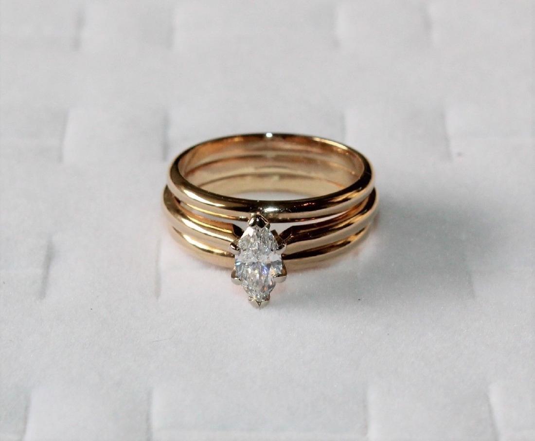 Frederick Goldman 14k Gold Diamond Engagement Ring