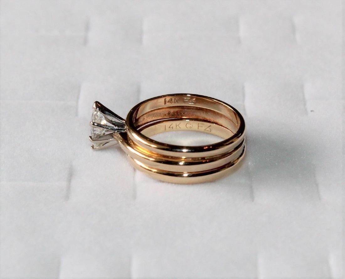 Frederick Goldman 14k Gold Diamond Engagement Ring - 2