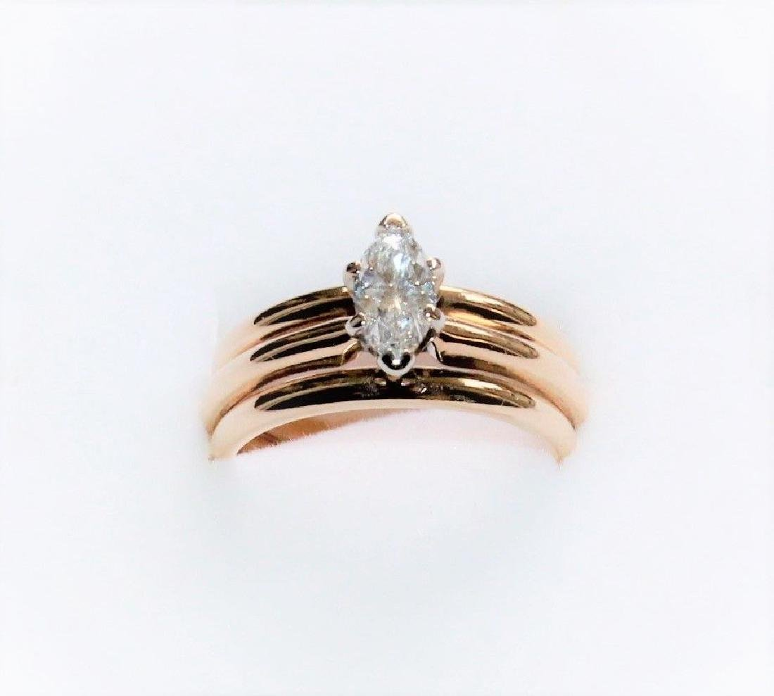 Frederick Goldman 14k Gold Diamond Engagement Ring - 3