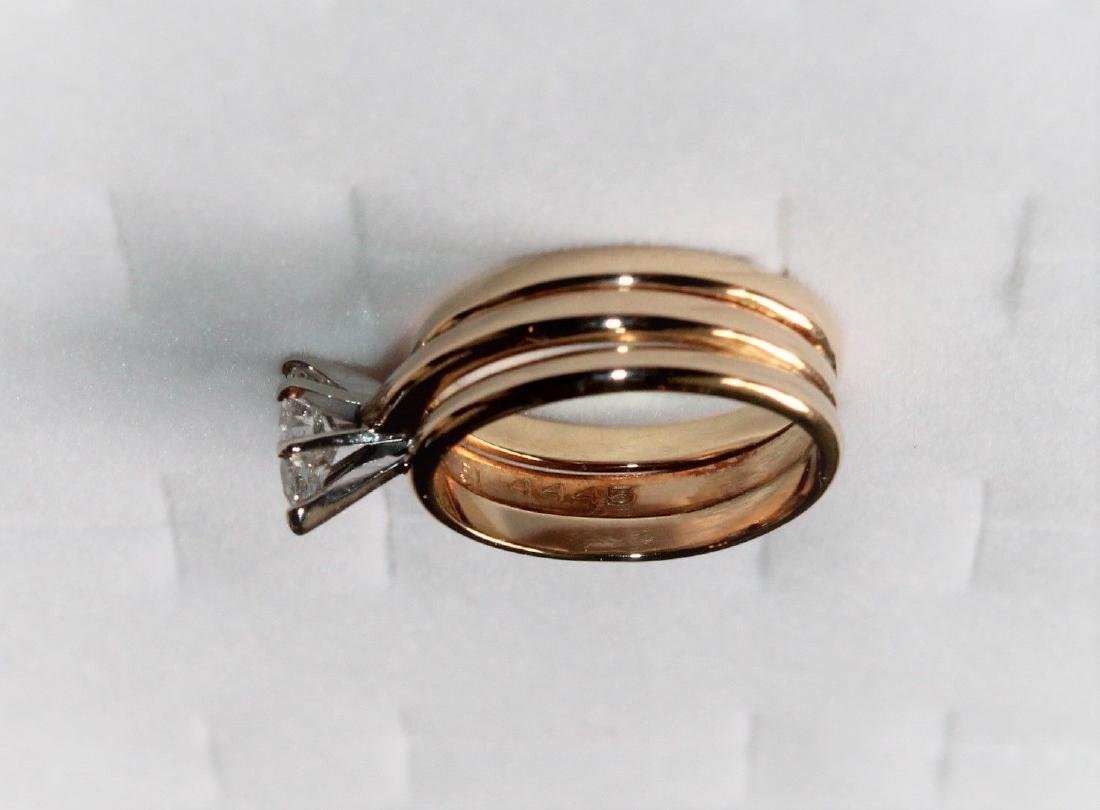 Frederick Goldman 14k Gold Diamond Engagement Ring - 4