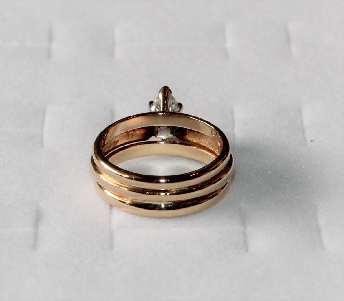 Frederick Goldman 14k Gold Diamond Engagement Ring - 5