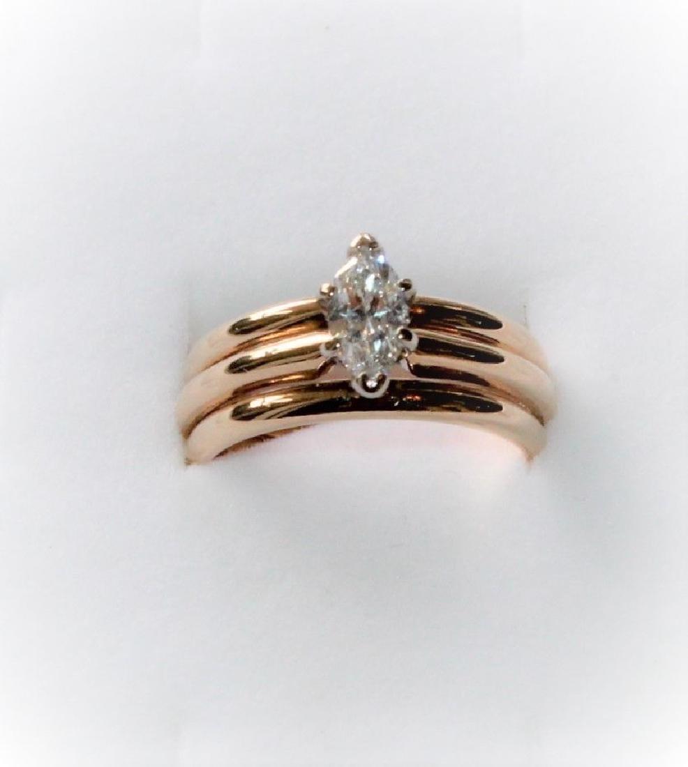 Frederick Goldman 14k Gold Diamond Engagement Ring - 6