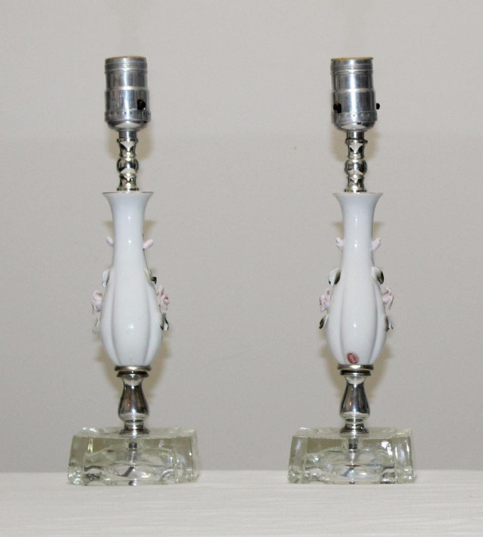 Vintage BASE Porcelain Lamps - Made in Japan - 2
