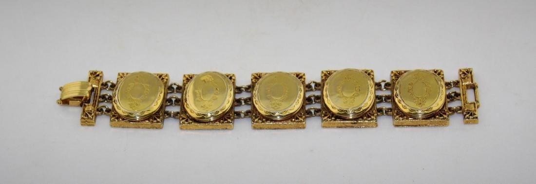 Hattie Carnegie Locket Photo Holder Bracelet