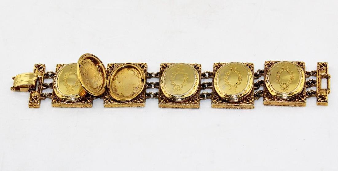 Hattie Carnegie Locket Photo Holder Bracelet - 2