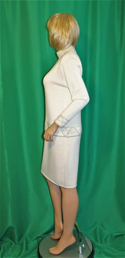 St John for Saks 5th Ave Ivory Santana Knit Dress - 3