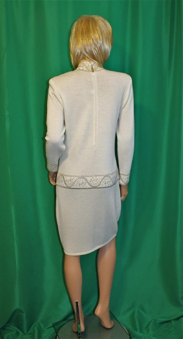 St John for Saks 5th Ave Ivory Santana Knit Dress - 4