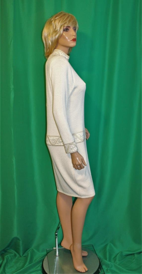St John for Saks 5th Ave Ivory Santana Knit Dress - 5