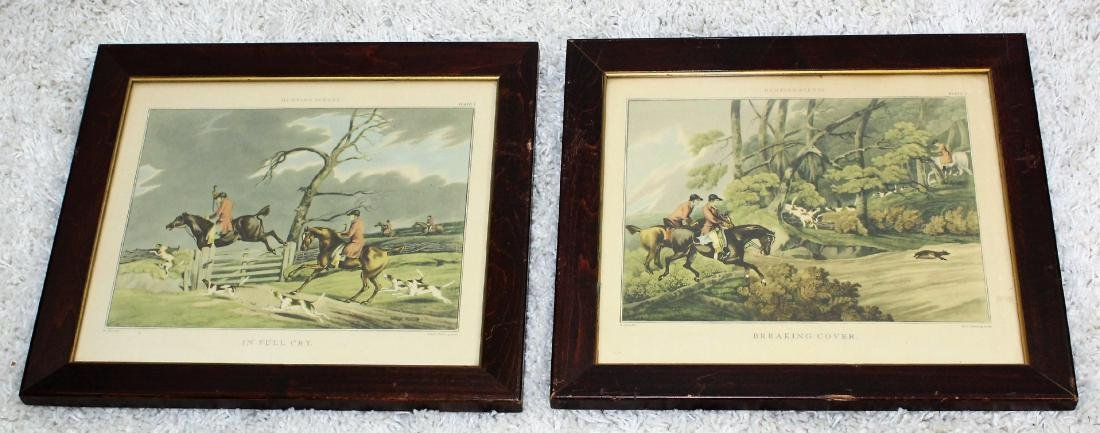 Pair of Fox Hunt Lithographs