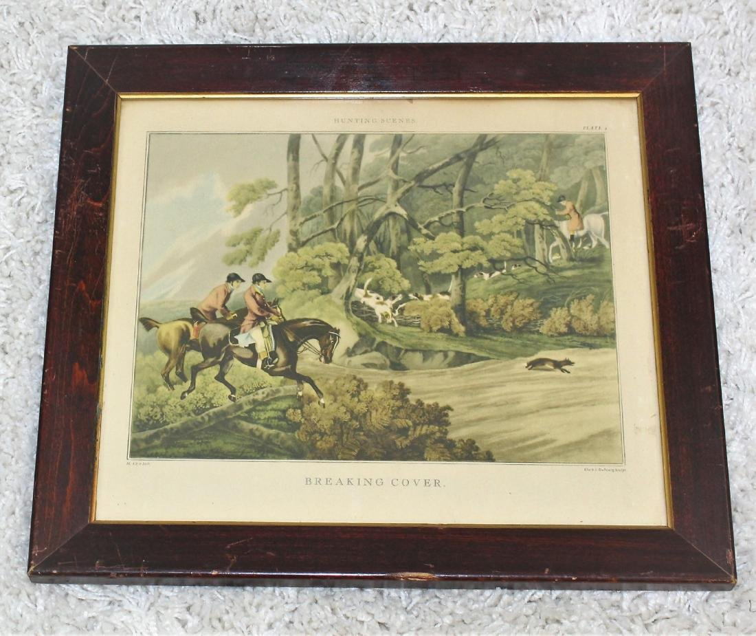 Pair of Fox Hunt Lithographs - 2