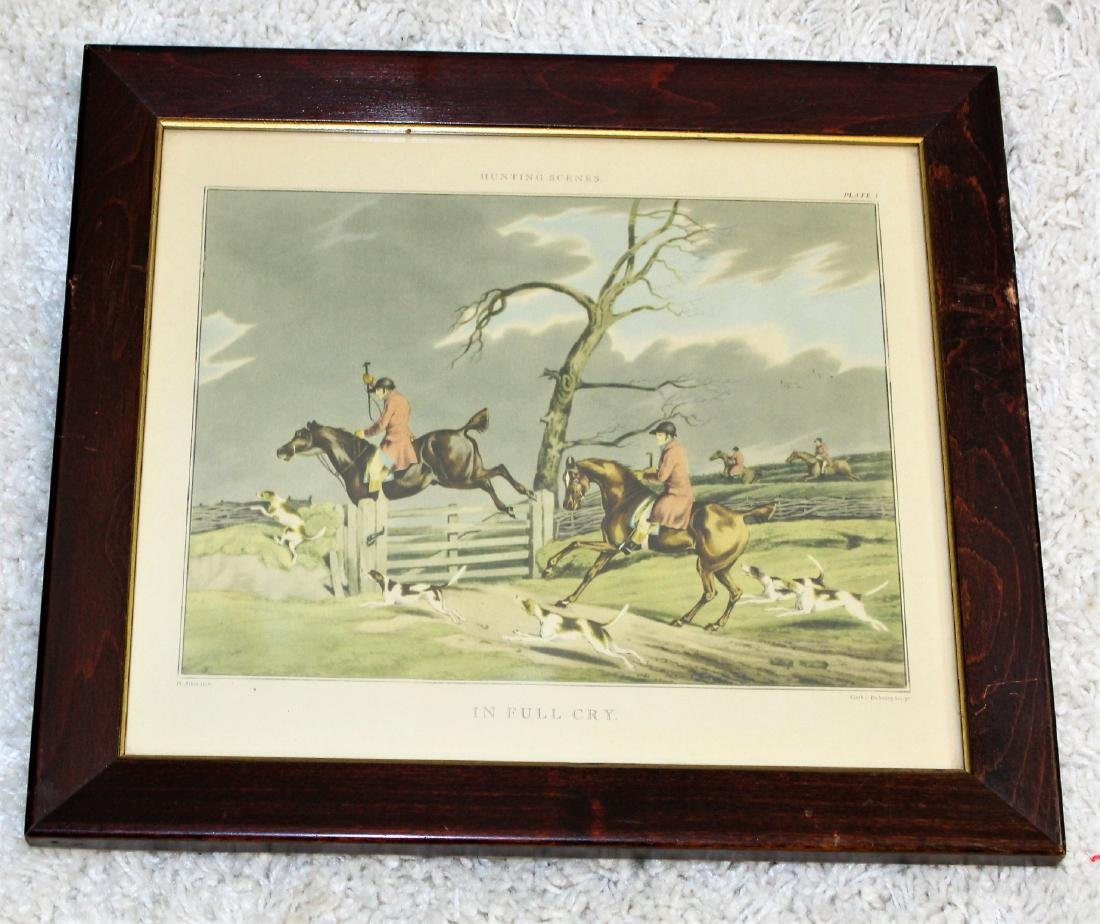 Pair of Fox Hunt Lithographs - 3