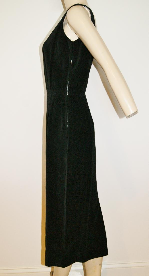 50's HENRY ROSENFELD Black Velvet Dress - Size 4 - 5