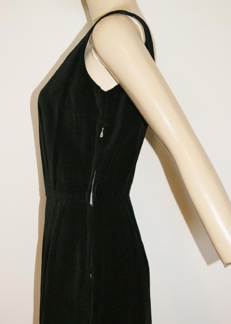 50's HENRY ROSENFELD Black Velvet Dress - Size 4 - 6