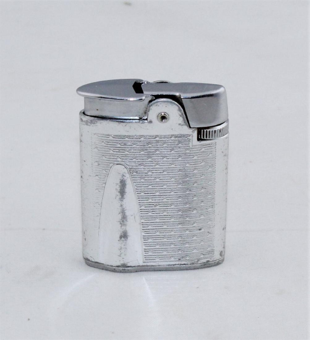 RONSON Silver Tone Varaflame Butane Lighter
