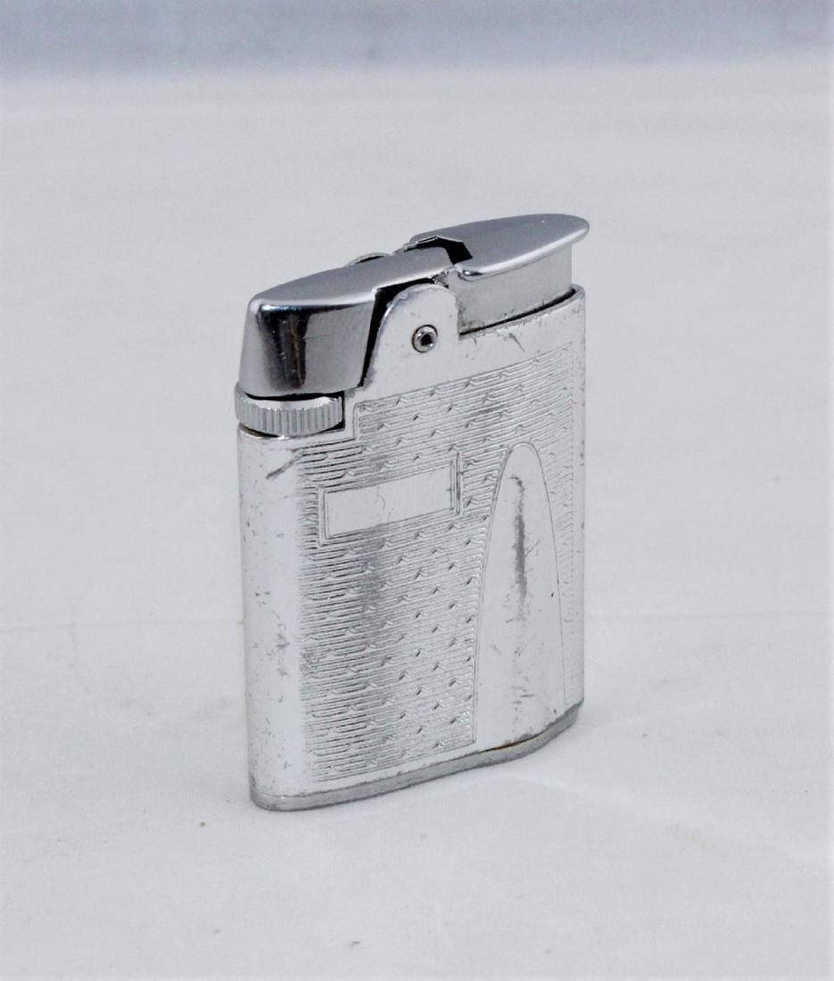 RONSON Silver Tone Varaflame Butane Lighter - 2