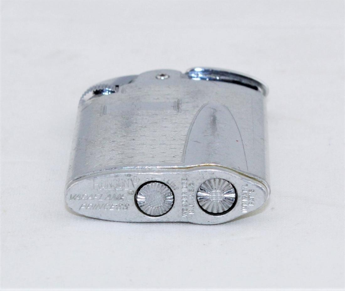RONSON Silver Tone Varaflame Butane Lighter - 3