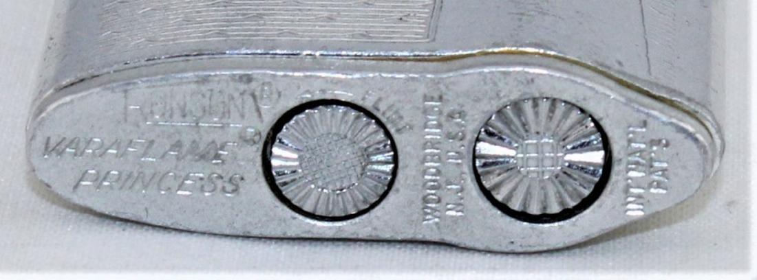 RONSON Silver Tone Varaflame Butane Lighter - 4